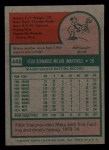 1975 Topps Mini #445  Felix Millan  Back Thumbnail