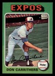 1975 Topps Mini #438   Don Carrithers Front Thumbnail