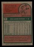 1975 Topps Mini #95  John Mayberry  Back Thumbnail