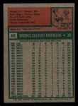 1975 Topps Mini #50   Brooks Robinson Back Thumbnail