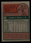 1975 Topps Mini #33   Dusty Baker Back Thumbnail