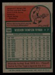 1975 Topps Mini #166  Woodie Fryman  Back Thumbnail