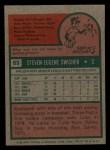 1975 Topps Mini #63  Steve Swisher  Back Thumbnail