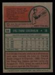 1975 Topps Mini #54   Eric Soderholm Back Thumbnail
