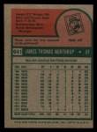 1975 Topps Mini #641  Jim Northrup  Back Thumbnail