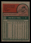 1975 Topps Mini #625  Boog Powell  Back Thumbnail
