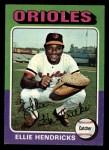 1975 Topps Mini #609   Elrod Hendricks Front Thumbnail