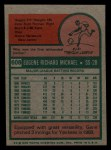 1975 Topps Mini #608   Gene Michael Back Thumbnail