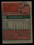 1975 Topps Mini #168  Bill Greif  Back Thumbnail