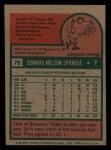 1975 Topps Mini #76   Ed Sprague Back Thumbnail