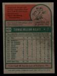 1975 Topps Mini #403   Tom Buskey Back Thumbnail