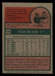 1975 Topps Mini #639  Steve Kline  Back Thumbnail