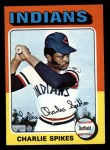 1975 Topps Mini #135   Charlie Spikes Front Thumbnail