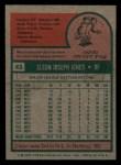 1975 Topps Mini #43   Cleon Jones Back Thumbnail