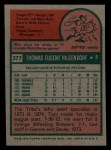 1975 Topps Mini #377  Tom Hilgendorf  Back Thumbnail
