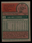 1975 Topps Mini #24   Al Fitzmorris Back Thumbnail