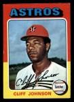 1975 Topps Mini #143  Cliff Johnson  Front Thumbnail