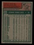 1975 Topps Mini #564   Tommy Davis Back Thumbnail