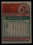 1975 Topps Mini #626   Larry Haney Back Thumbnail