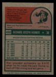 1975 Topps Mini #492  Richie Hebner  Back Thumbnail