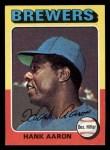 1975 Topps Mini #660  Hank Aaron  Front Thumbnail