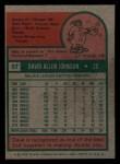 1975 Topps Mini #57   Davey Johnson Back Thumbnail