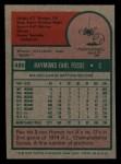 1975 Topps Mini #486  Ray Fosse  Back Thumbnail