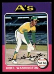1975 Topps Mini #407   Herb Washington Front Thumbnail
