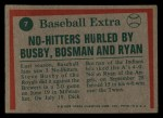 1975 Topps Mini #7  Nolan Ryan / Steve Busby / Dick Bosman  Back Thumbnail