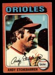 1975 Topps Mini #583   Andy Etchebarren Front Thumbnail