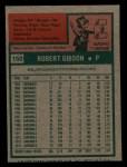 1975 Topps Mini #150  Bob Gibson  Back Thumbnail