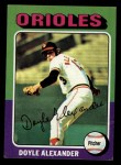 1975 Topps Mini #491   Doyle Alexander Front Thumbnail