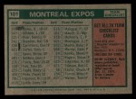 1975 Topps Mini #101  Expos Team Checklist  -  Gene Mauch Back Thumbnail