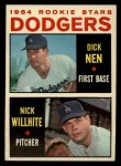 1964 Topps #14  Dodgers Rookies  -  Dick Nen / Nick Willhite Front Thumbnail