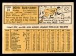 1963 Topps #35   John Buzhardt Back Thumbnail