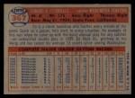 1957 Topps #367  Ed Fitzgerald  Back Thumbnail