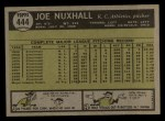 1961 Topps #444  Joe Nuxhall  Back Thumbnail