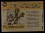1960 Topps #568  All-Star  -  Del Crandall Back Thumbnail