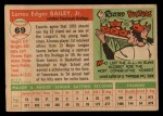 1955 Topps #69   Ed Bailey Back Thumbnail