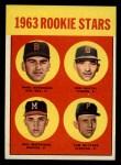 1963 Topps #299   Rookie Stars    -  Dave Morehead / Tom Butters / Dan Schneider / Bob Dustal Front Thumbnail