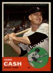 1963 Topps #445 COR Norm Cash  Front Thumbnail