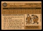 1960 Topps #255  Jim Gilliam  Back Thumbnail