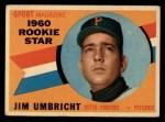 1960 Topps #145  Rookie Stars  -  Jim Umbricht Front Thumbnail