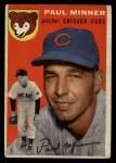 1954 Topps #28  Paul Minner  Front Thumbnail