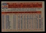 1957 Topps #149  Bob Kennedy  Back Thumbnail