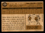 1960 Topps #108  Pete Daley  Back Thumbnail