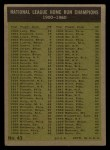 1961 Topps #43  1960 NL Home Run Leaders  -  Hank Aaron / Ernie Banks / Ken Boyer / Eddie Mathews Back Thumbnail