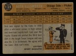 1960 Topps #125   -  Dick Ellsworth Rookies Back Thumbnail