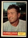 1961 Topps #186 COR  Elmer Valo Front Thumbnail