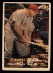 1957 Topps #54   Elmer Valo Front Thumbnail
